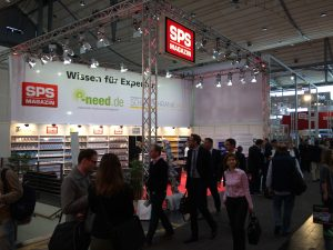 SPS-Magazin Messestand  des TeDo Verlags in Halle 9