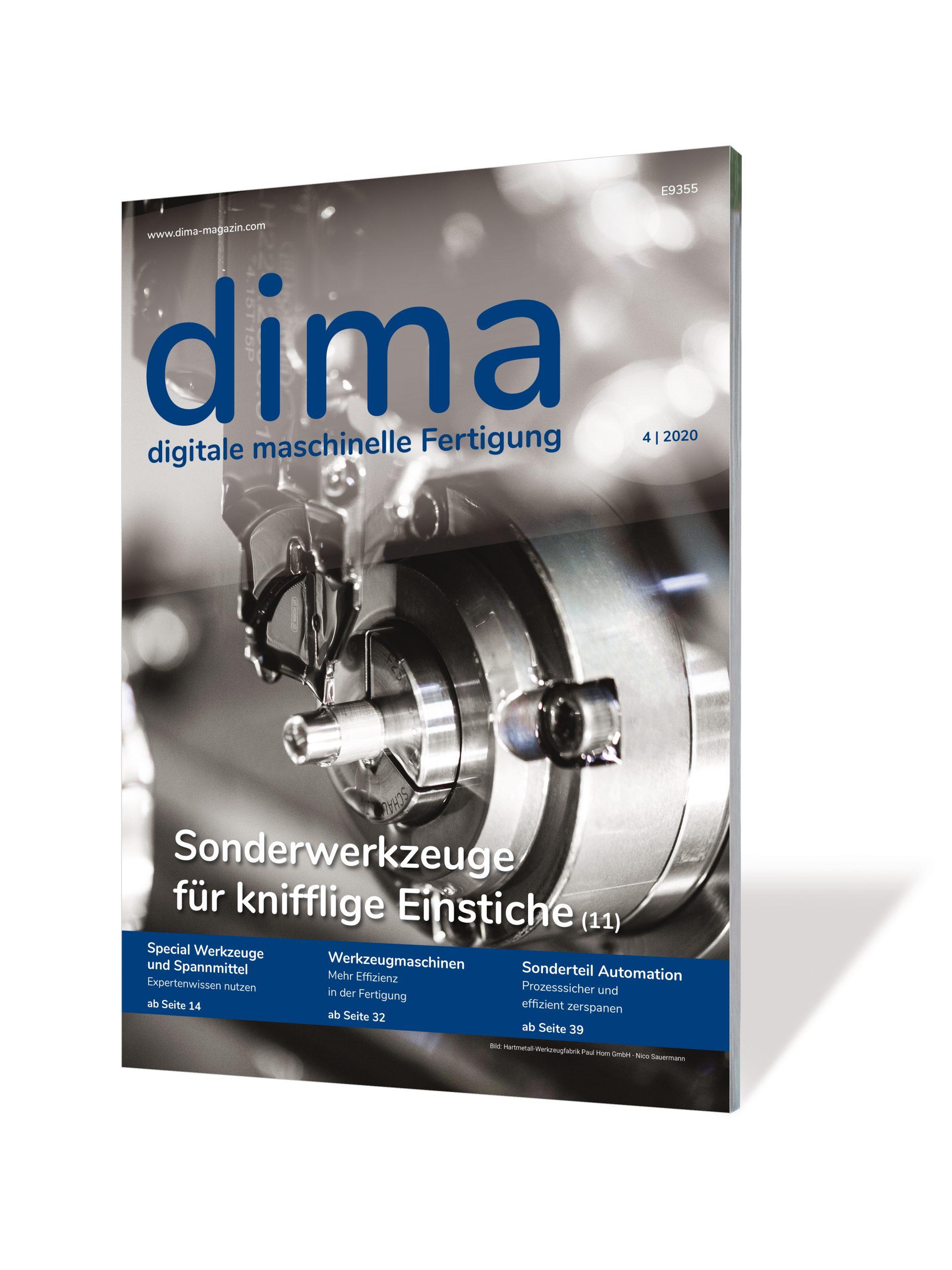 Fachzeitschrift dima – digitale maschinelle Fertigung