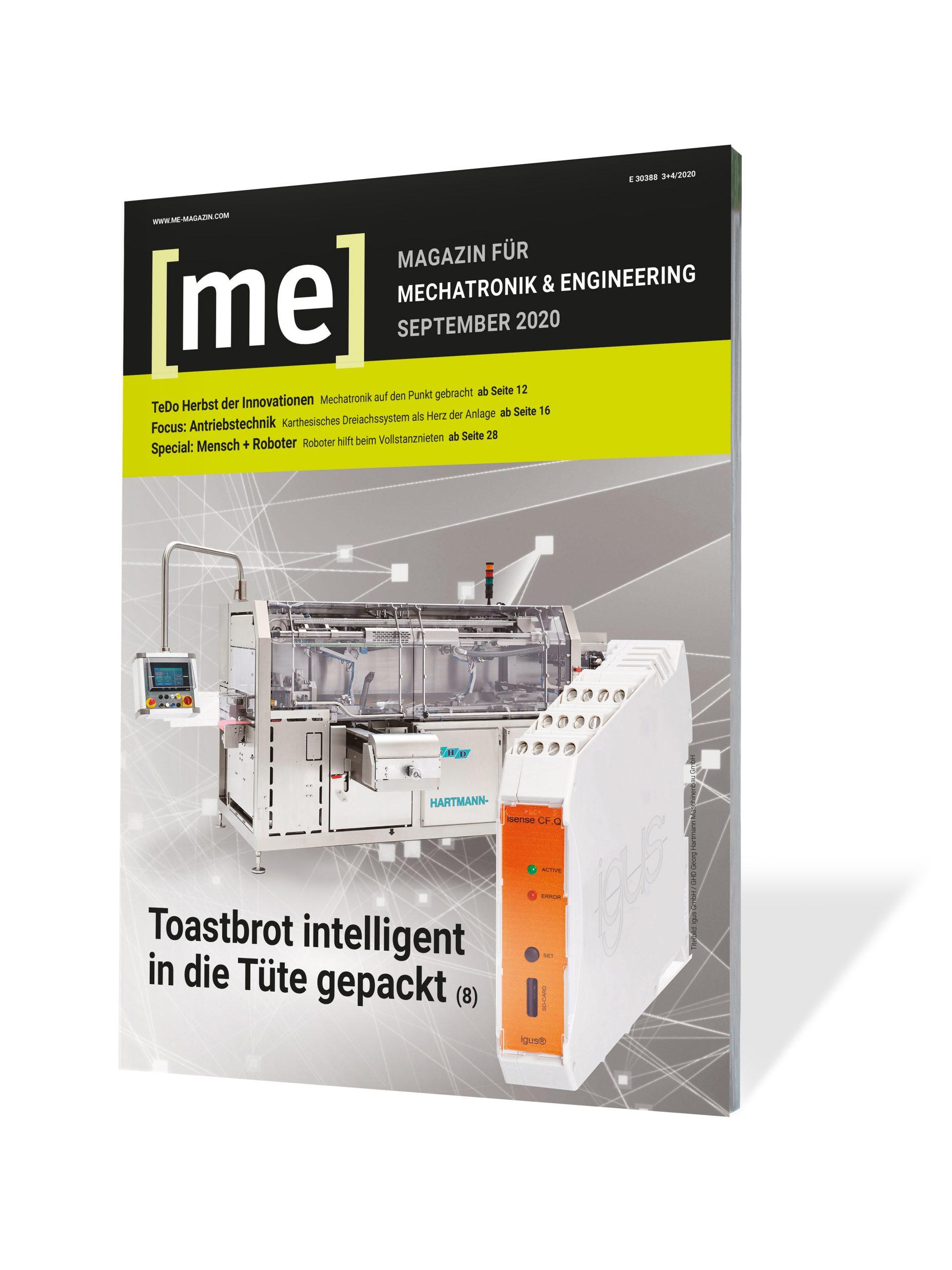 Fachzeitschrift [me] Mechatronik & Engineering